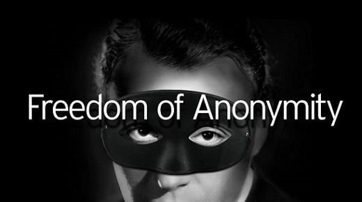 Freedom of Anonymity