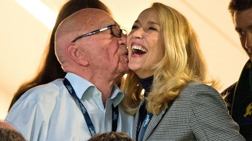 Rupert Murdoch & Jerry Hall Romantic