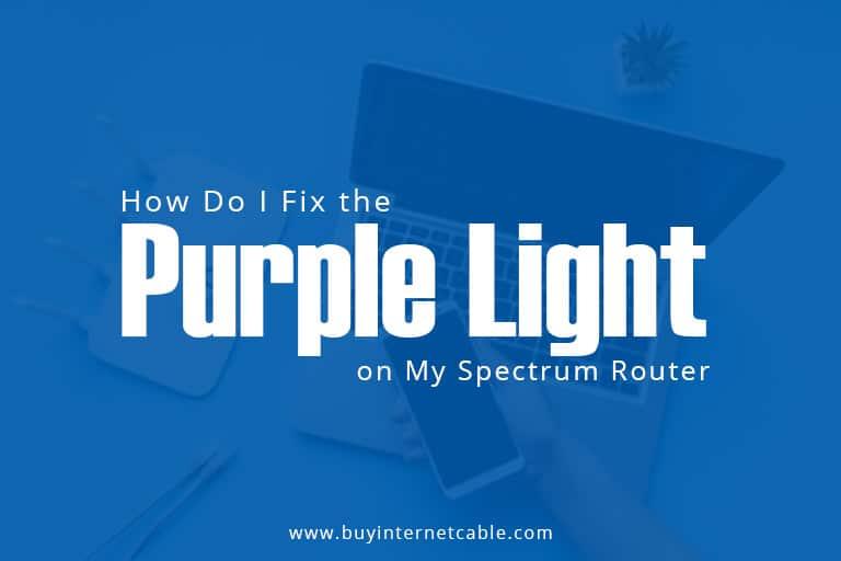 Purple Light on Spectrum Router?